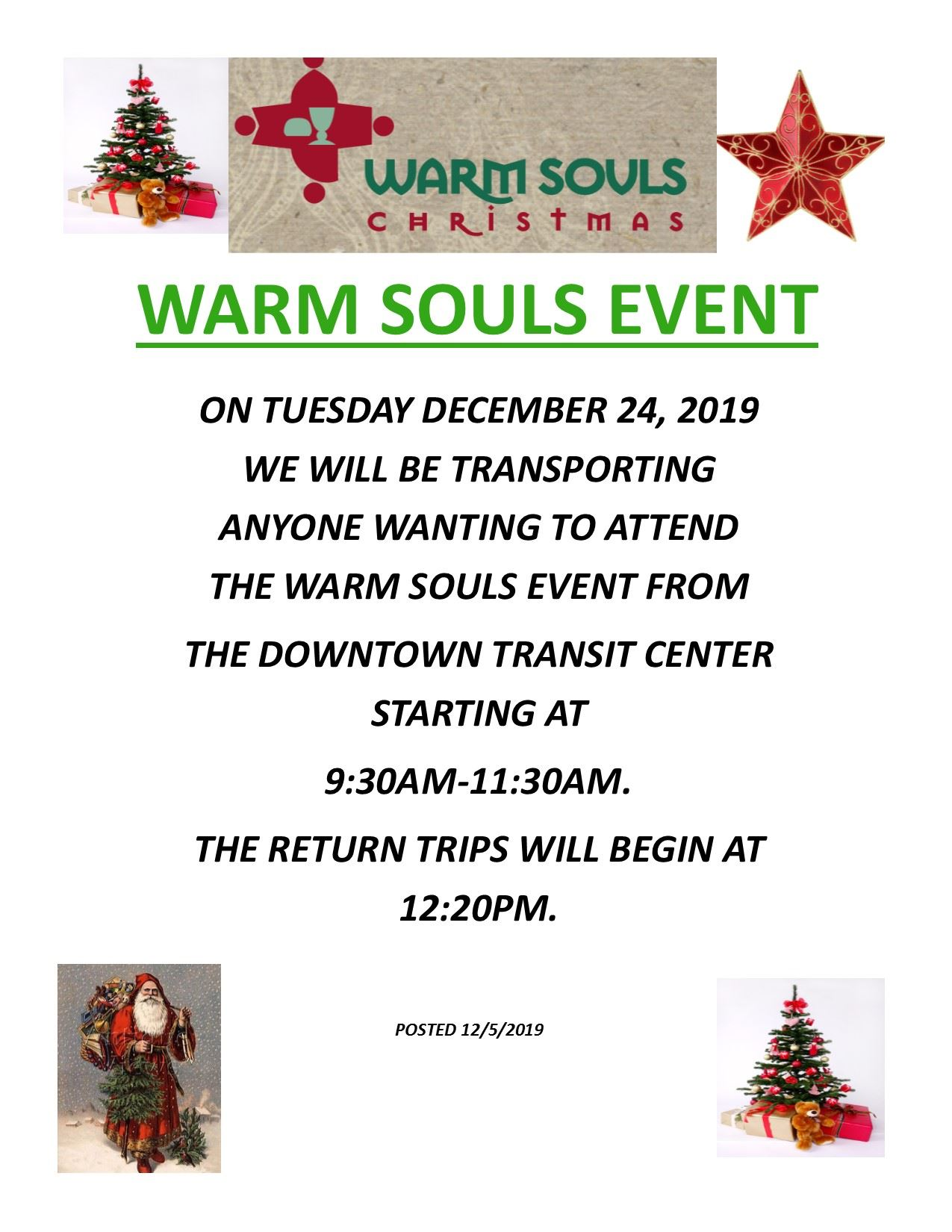 Warm Souls Christmas Eve Ride 24 Dec. 2019